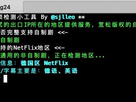 Netflix检测脚本合集,一键检测IP解锁范围及 对应的的地区
