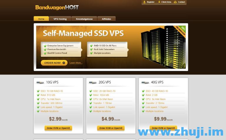 Bandwagonhost:新品2 5G端口/3网CN2/洛杉矶VPS/1核/1G内存/20G